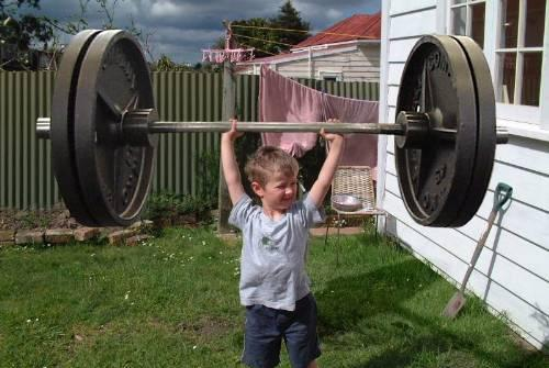 Strong kid! :)